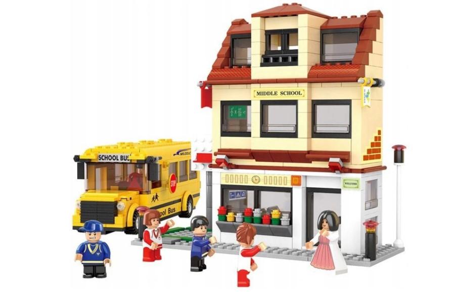 Klocki Sluban Town SZKOŁA AUTOBUS SZKOLNY 496 el PASUJE DO LEGO