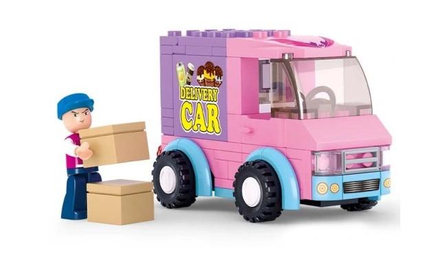 Klocki Sluban Friends KURIER AUTO DOSTAWCZE 102 el PASUJE DO LEGO GIRLS