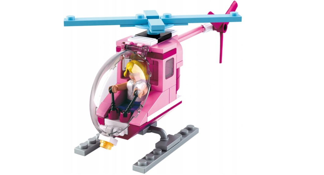 Klocki Sluban Friends HELIKOPTER + FIGURKA 78 el GIRLS PASUJE DO LEGO