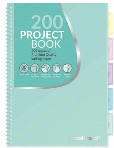 Kołozeszyt w kartkę B5 200 Projekt Book Coolpack