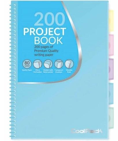 Kołozeszyt w kratkę B5 200 Projekt Book Coolpack