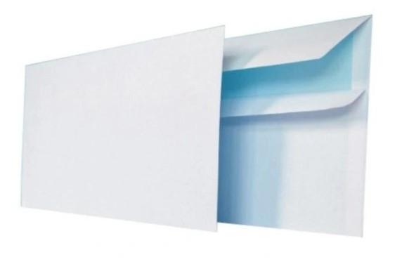 Koperty białe DL samoklejące 110x220 50 szt