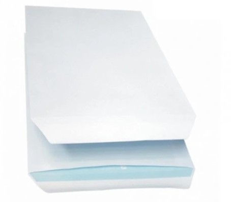 Koperty białe C5 samoklejące z paskiem 50 szt