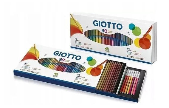 zestaw artystyczny Giotto Stilnovo mazaki kredki 90
