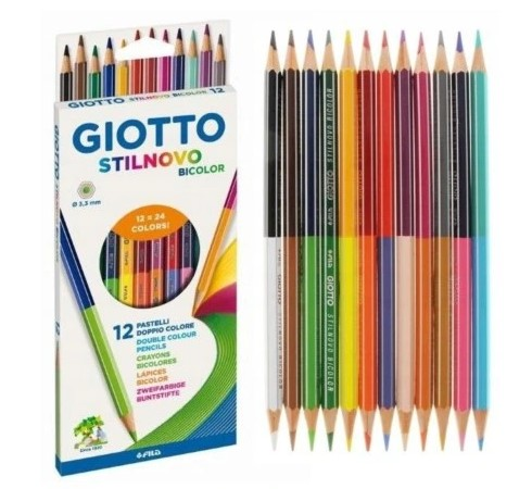 Kredki Giotto Stilnovo 12 24 Zestaw Bi Colours DWUSTRONNE