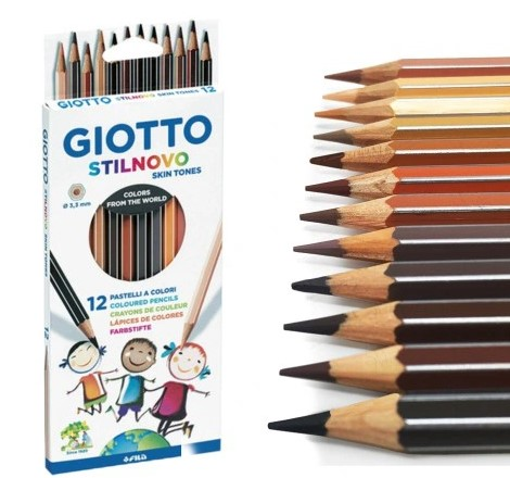 Kredki Giotto Stilnovo 12 Skin Tones brązy 12 KOLORÓW