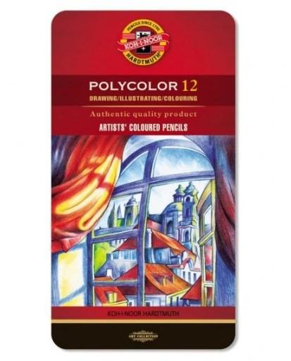 Kredki ołówkowe KOH-I-NOOR POLYCOLOR 12 kolorów