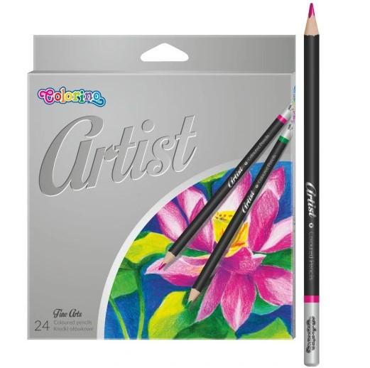 Kredki ołówkowe PATIO COLORINO ARTIST 24 kolory
