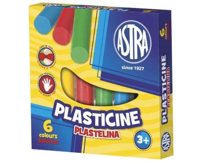 Plastelina 6 kolorów ASTRA Kids