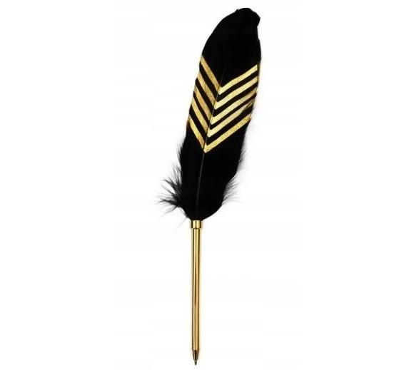 Długopis pióro czarno złote 25 cm