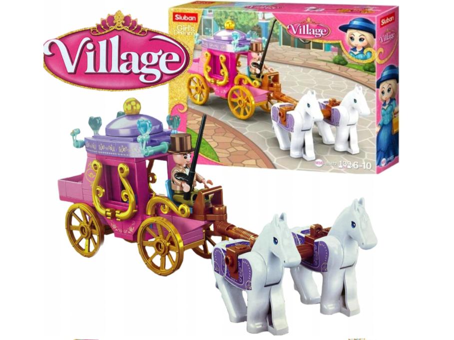 KLOCKI SLUBAN Lego Girls Dream powóz z końmi VILLAGE