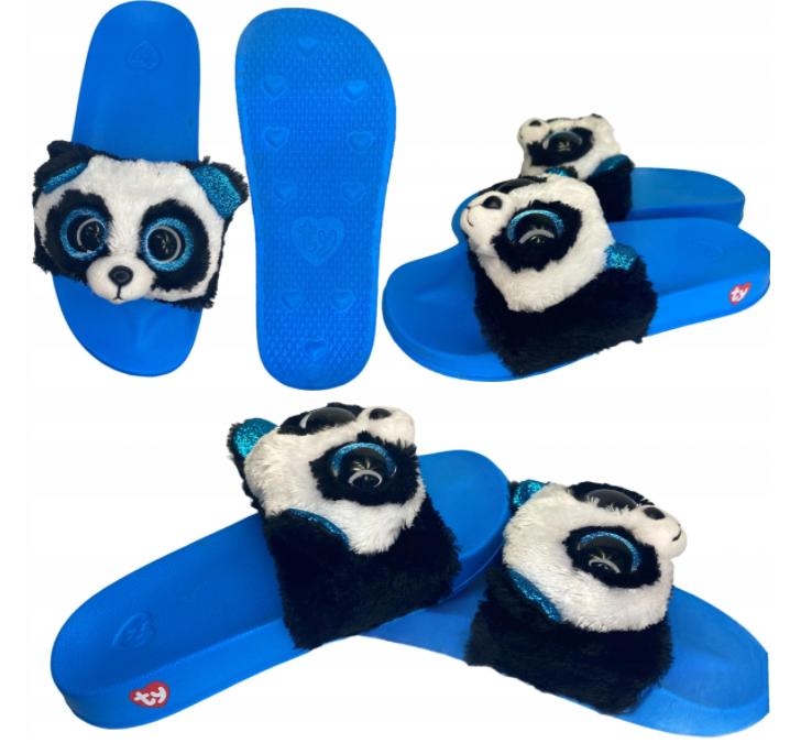 Klapki dziecięce Panda Basenowe Pluszowe Ty M 21 cm