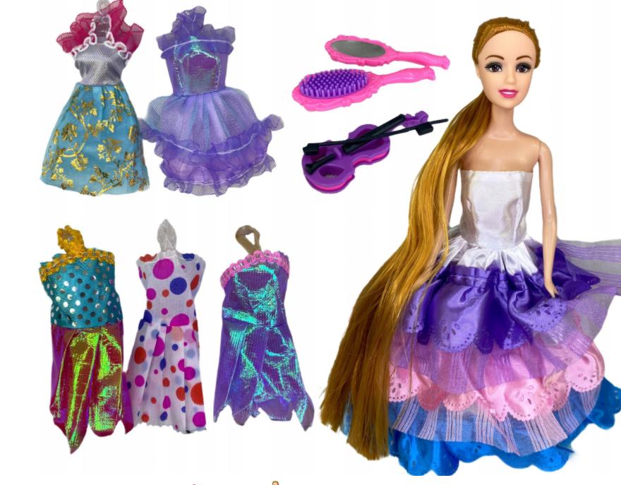 Lalka Barbie Rozszpunka Duży zestaw sukienek akcesoria