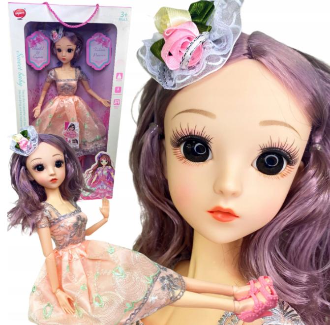 Duża lalka Barbie duże oczy 60 CM na prezent