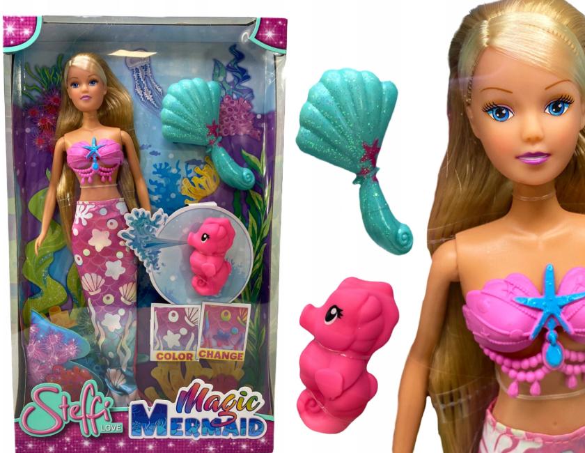 Lalka Steffi Barbie syrenka morska akcesoria