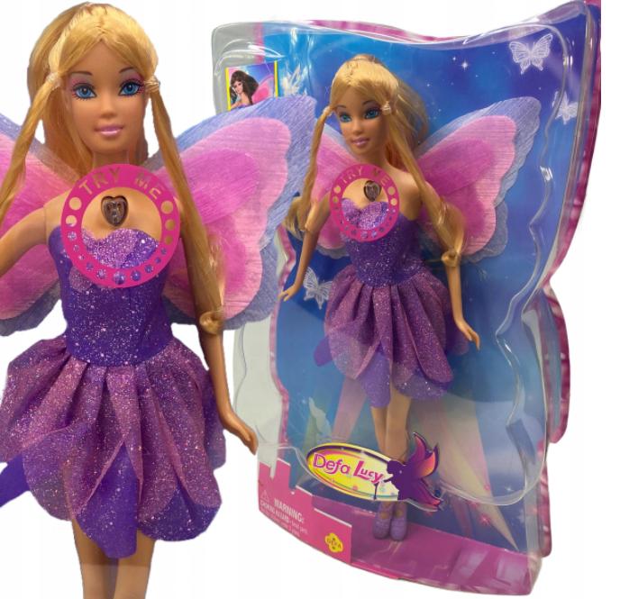 Lalka Barbie wróżka skrzydła księżniczka świecące skrzydła