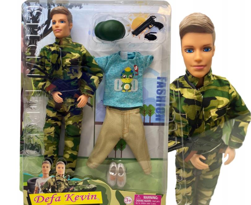 BARBIE KEN lalka żołnierz akcesoria