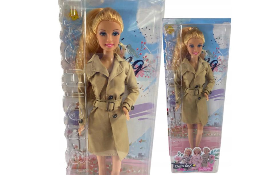 Lalka Barbie Defa Lucy Jesienny płaszcz trencz