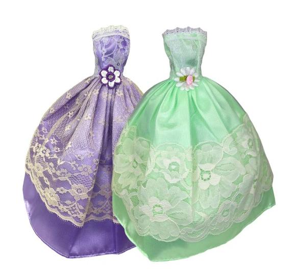 Zestaw sukienek dla lalki Barbie księżniczka