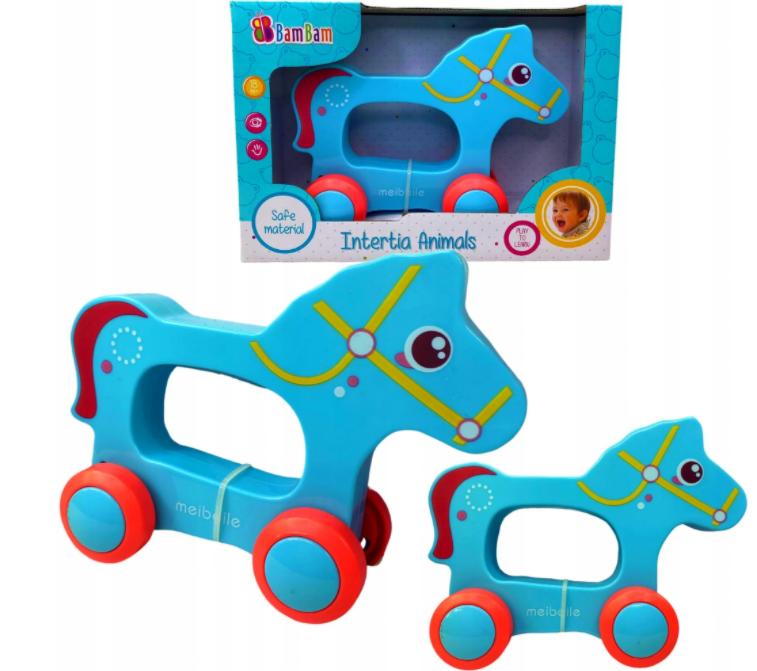 Zabawka sensoryczna dla niemowląt jeżdżący konik BAMBAM