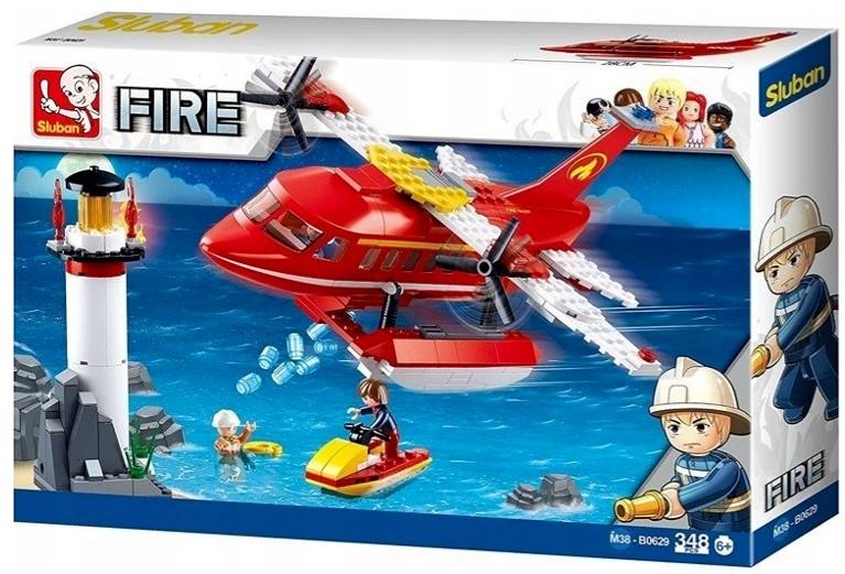 KLOCKI SLUBAN LEGO straż pożarna samolot pożarniczy 348