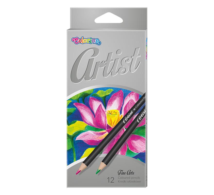 Kredki ołówkowe do szkoły Artist 12 kolor COLORINO