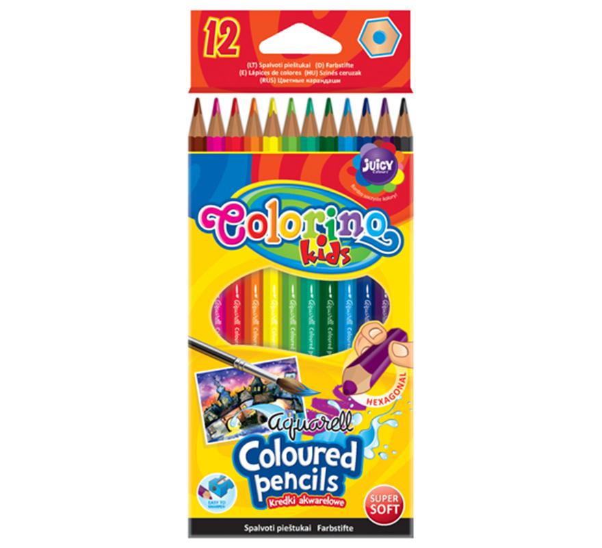 Kredki akwarelowe 12 kolorów Colorino