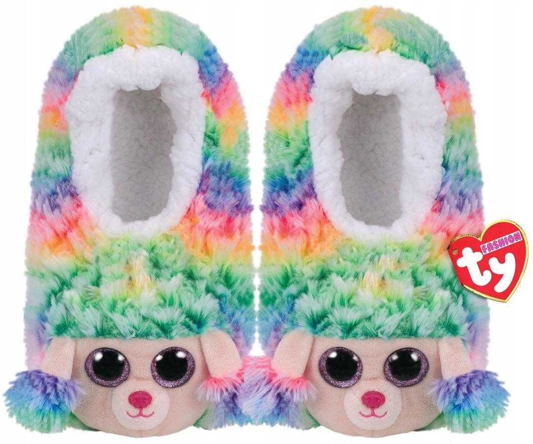Kapcie dziecięce 32r TY Rainbow paputki domowe