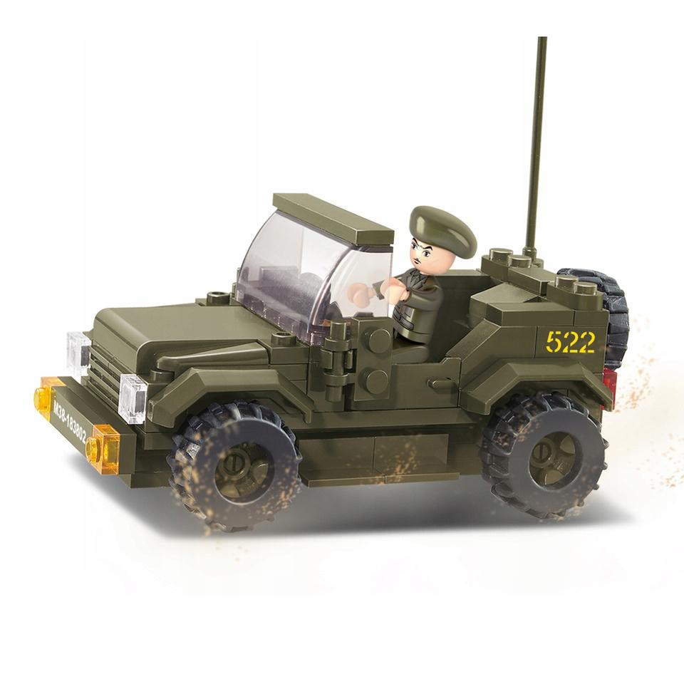 Klocki Sluban Wojsko Jeep 121 el