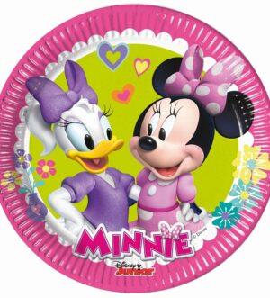 Zestaw urodziny talerzyki papierowe 8szt Minnie