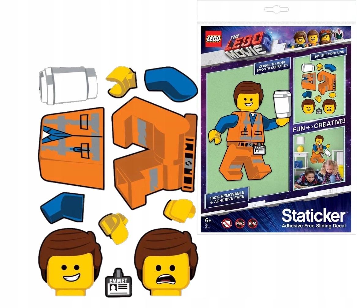 LEGO Staticker Emmet ruchoma układanka Movie 2