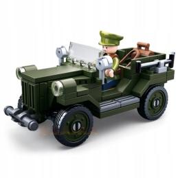 Klocki Sluban WW2 Jeep 112 el