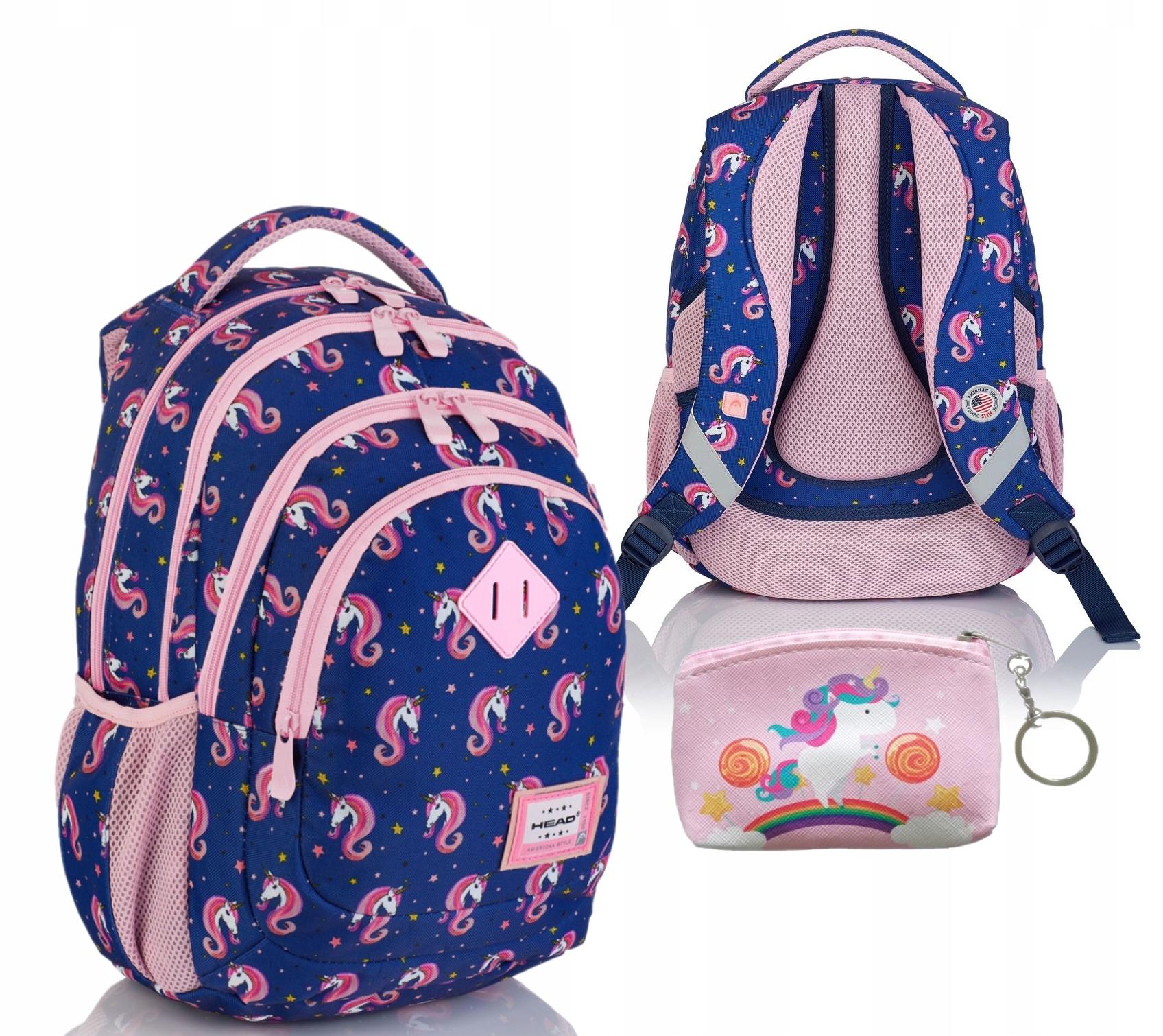 Plecak szkolny młodzieżow Jednorożce Head HD-330