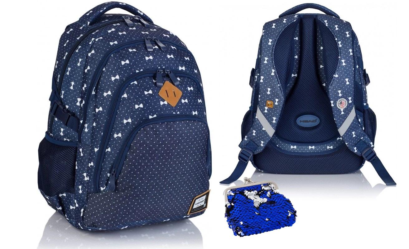 Plecak szkolny młodzieżowy Head HD-337 kokardki