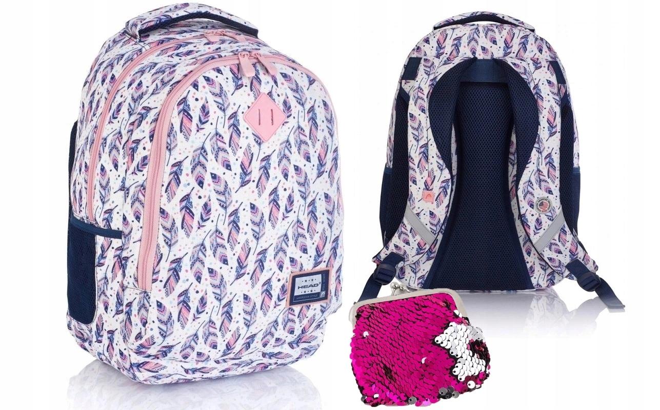 Plecak szkolny młodzieżowy Head HD-328 pióra